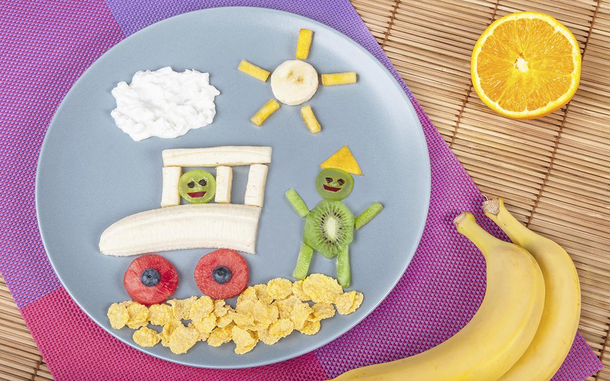 Desayuno infantil de frutas