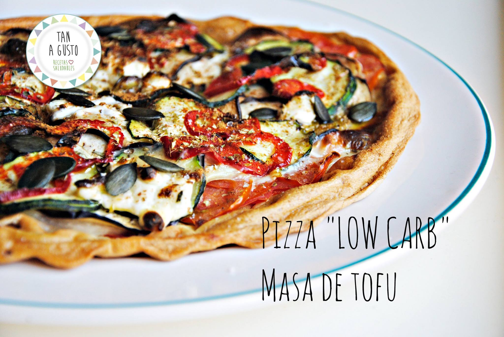 PIZZA LOW CARB, DE MASA DE TOFU.