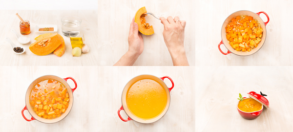 Crema de calabaza con miel y especias