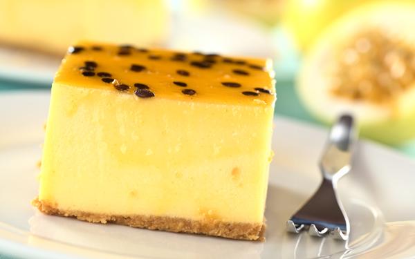 pastel de fruta de la pasión