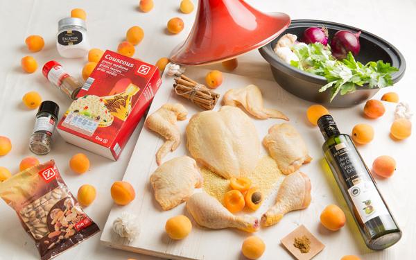 tajine de pollo con albaricoques