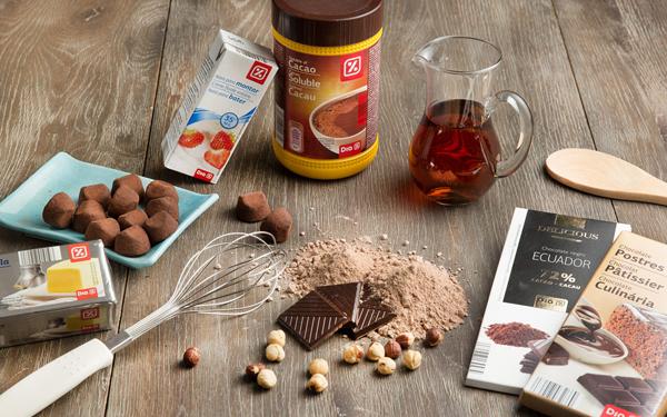trufas heladas de chocolate