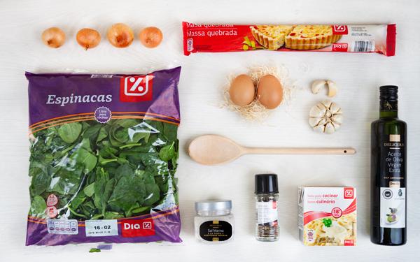 tarta de espinacas y huevo