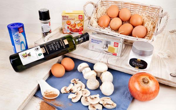 huevos al horno con champiñon