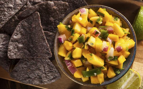 salsa o guarnicion de mango