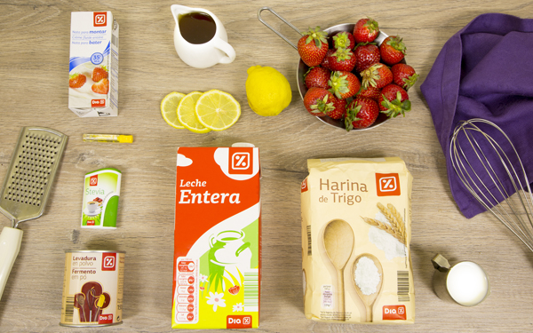 tarta de nata y fresas para diabeticos