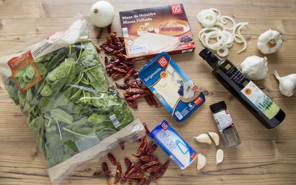 strudel de espinacas y gorgonzola
