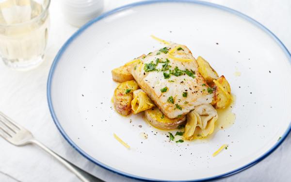 Receta de bacalao al horno patatas y alcachofas demos for Como cocinar bacalao al horno