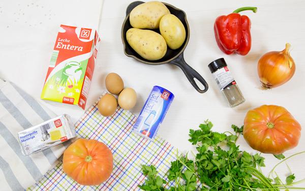 frittata de patatas y verduras