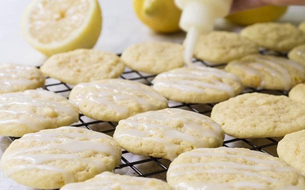 galletas con glaseado de limón
