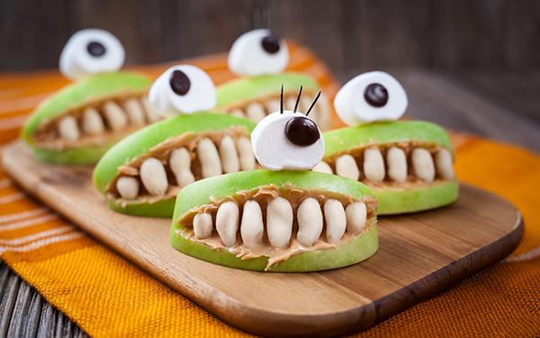 fruta terrorífica para halloween
