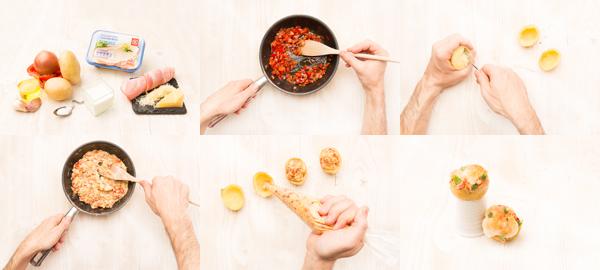 Patatas rellenas asadas dos veces