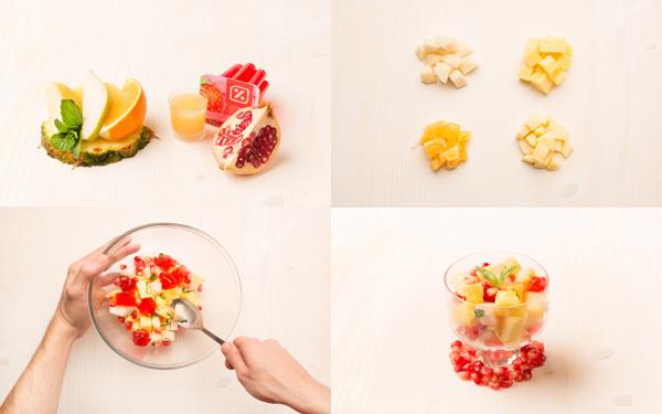 Ensalada de fruta con gelatina