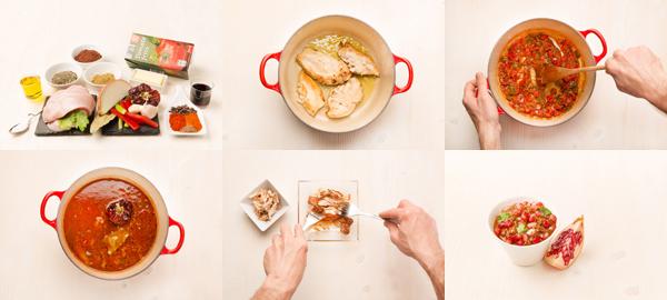 Mole de pollo con granada