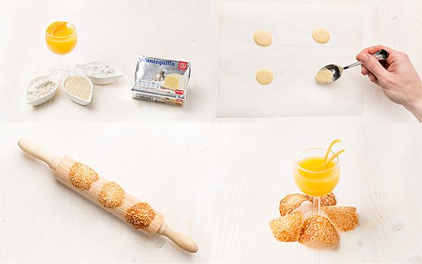 Tejas finas de naranja