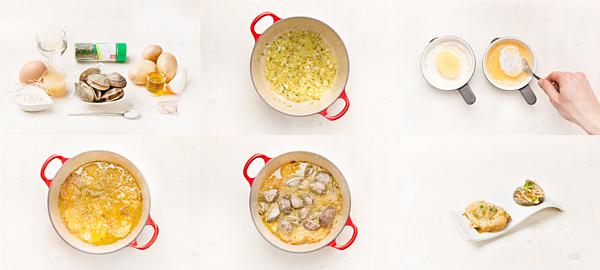 Patatas a la importancia con almejas