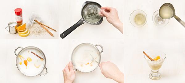Arroz con leche y gelée de limón
