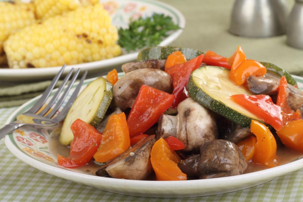 Verduras sazonadas fritas