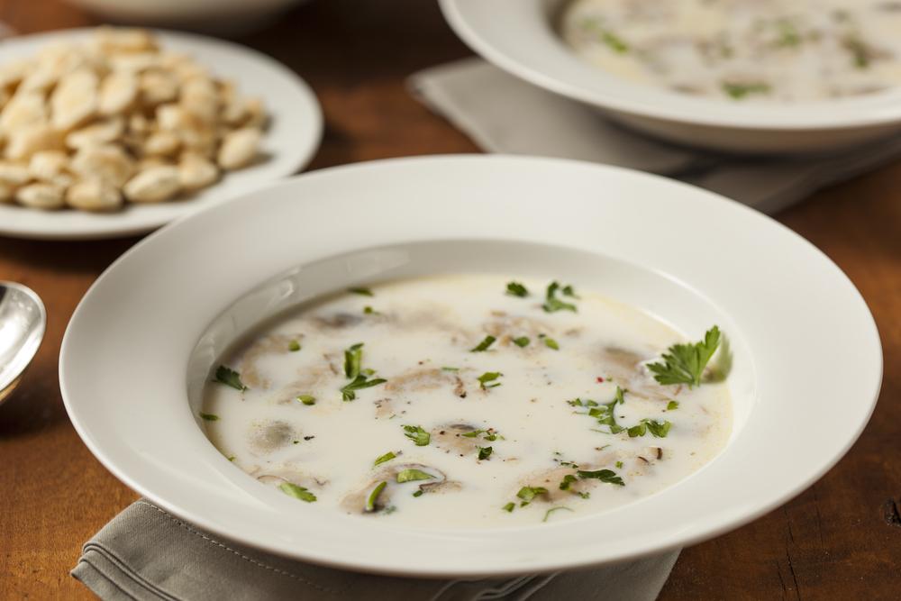Sopa de ostras y espárragos