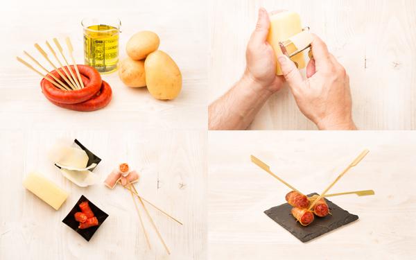 Crujiente de chistorra con patata
