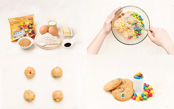 Galletas cookies de colores