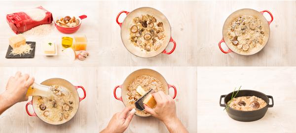 Risotto de setas al parmesano