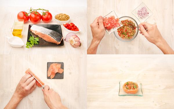 Ensalada de lentejas con salmón