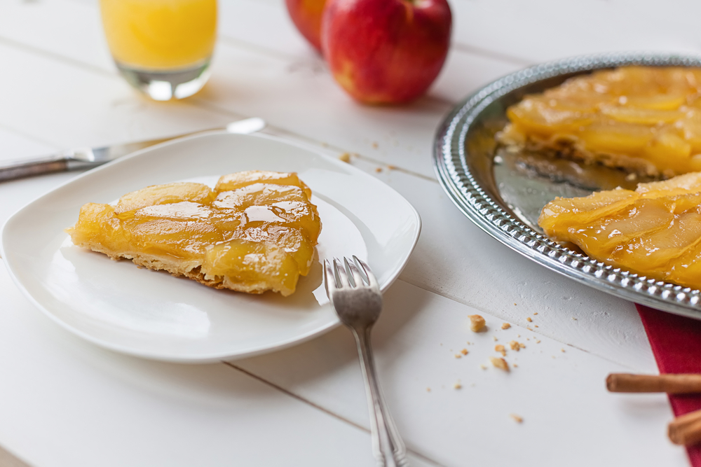 Tarta de manzana y canela casera