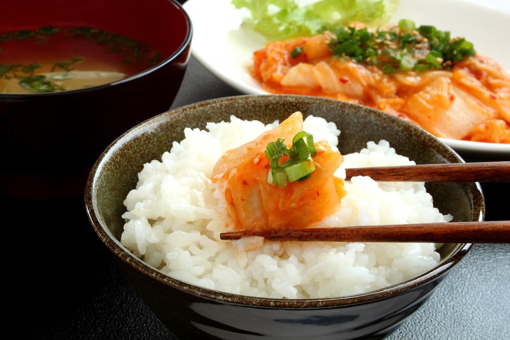 Kimchi con arroz
