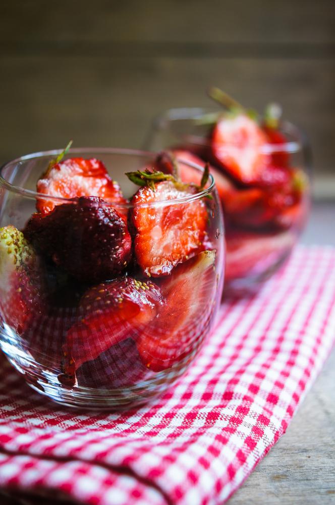 Fresas con infusión de balsámico