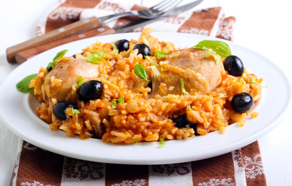 Arroz griego con pollo