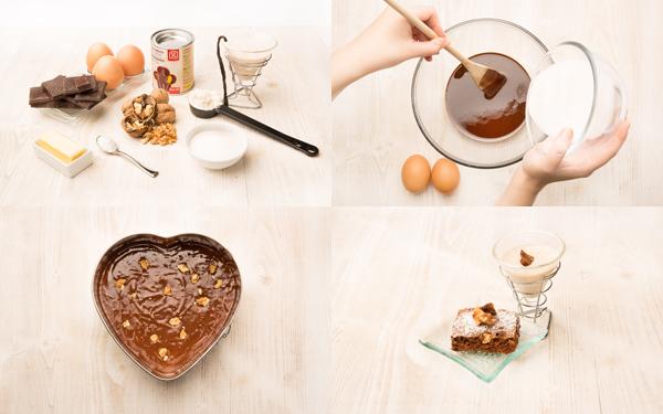Brownie de chocolate templado