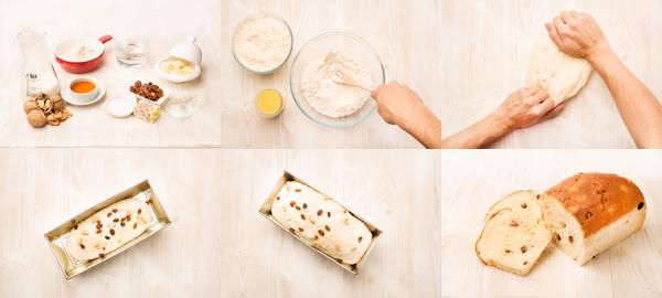 Pan de molde con pasas