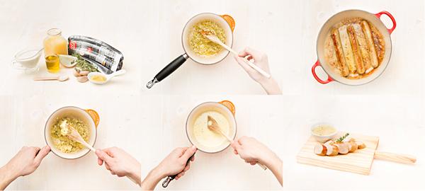Receta de bockwurst a la mostaza