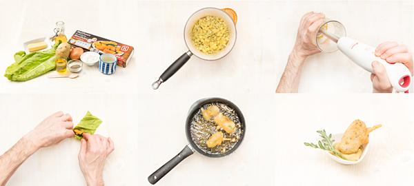Buñuelos de acelgas y mejillón