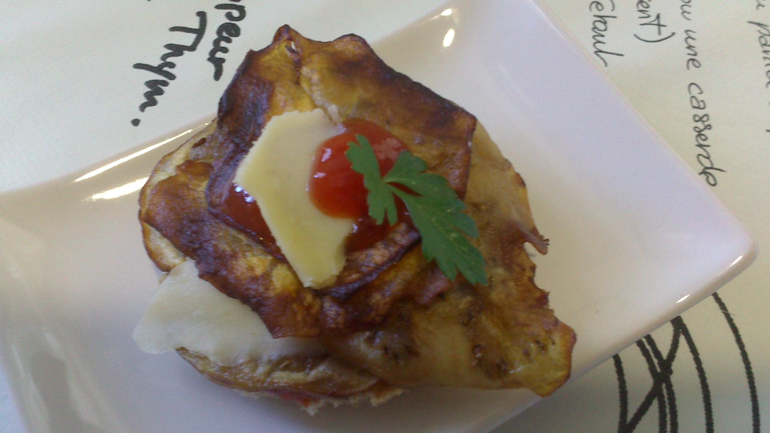 Milhoja de berenjena y queso express
