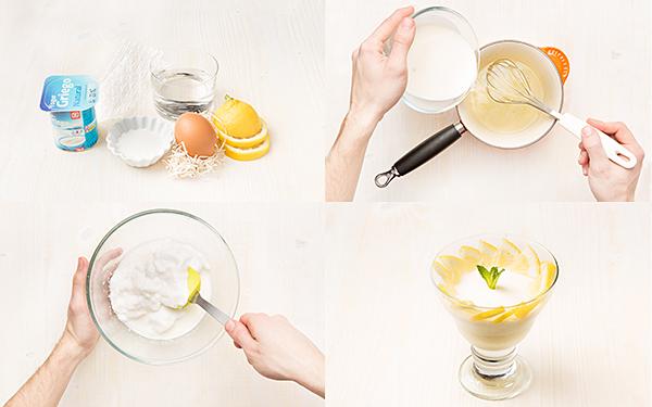 Mousse de limón casero
