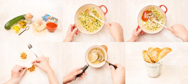 Empanadillas de sardinillas y verduras