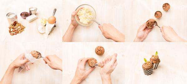 Cupcakes con crema de cacao