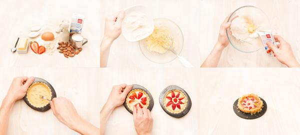Tarta de frutos rojos con masa quebrada