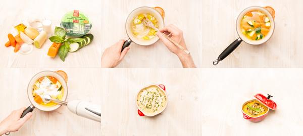 Crema ligera de verduras al horno