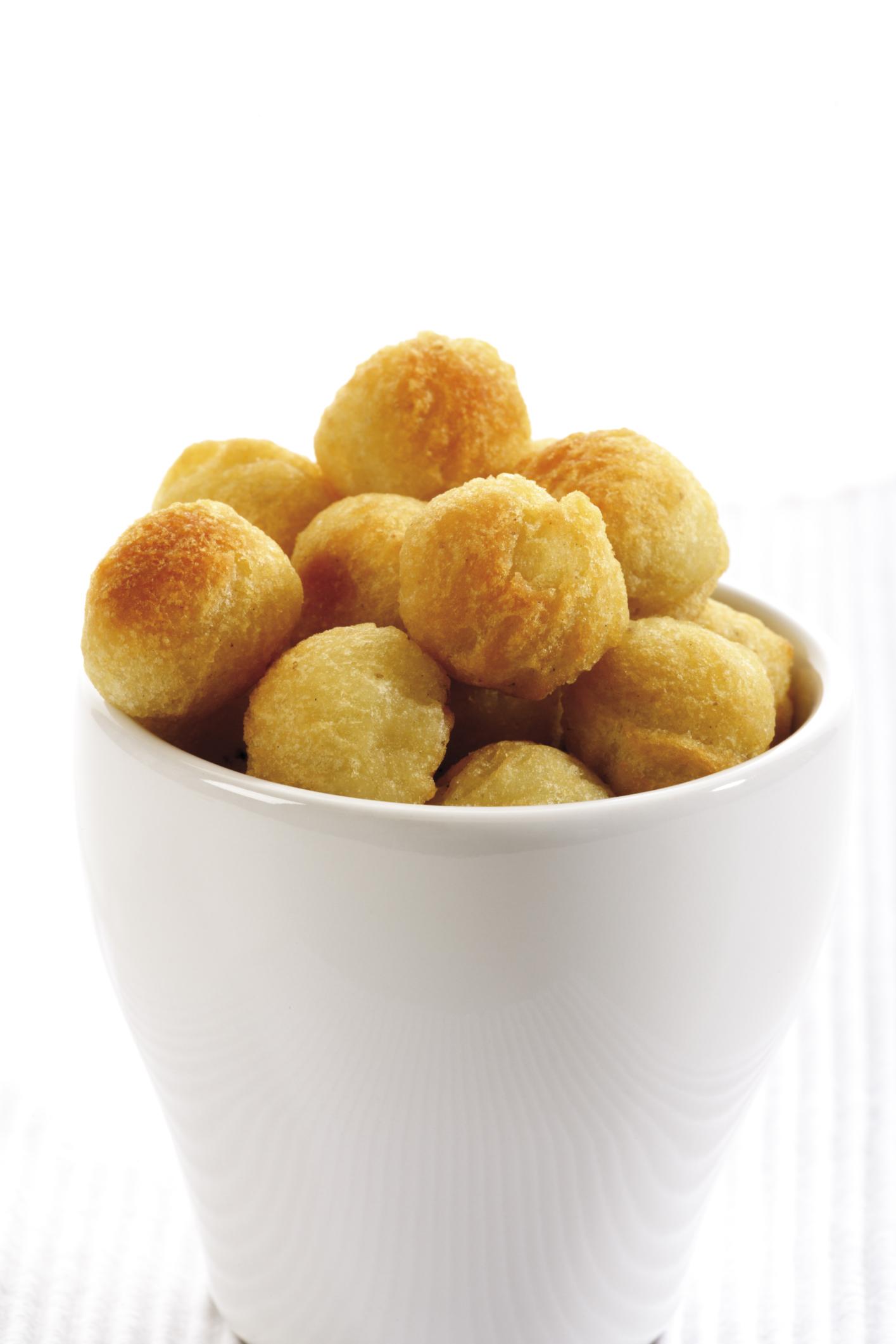 Albóndigas de patatas rellenas con ciruelas