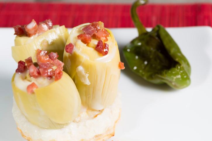 Alcachofas en vinagreta fácil