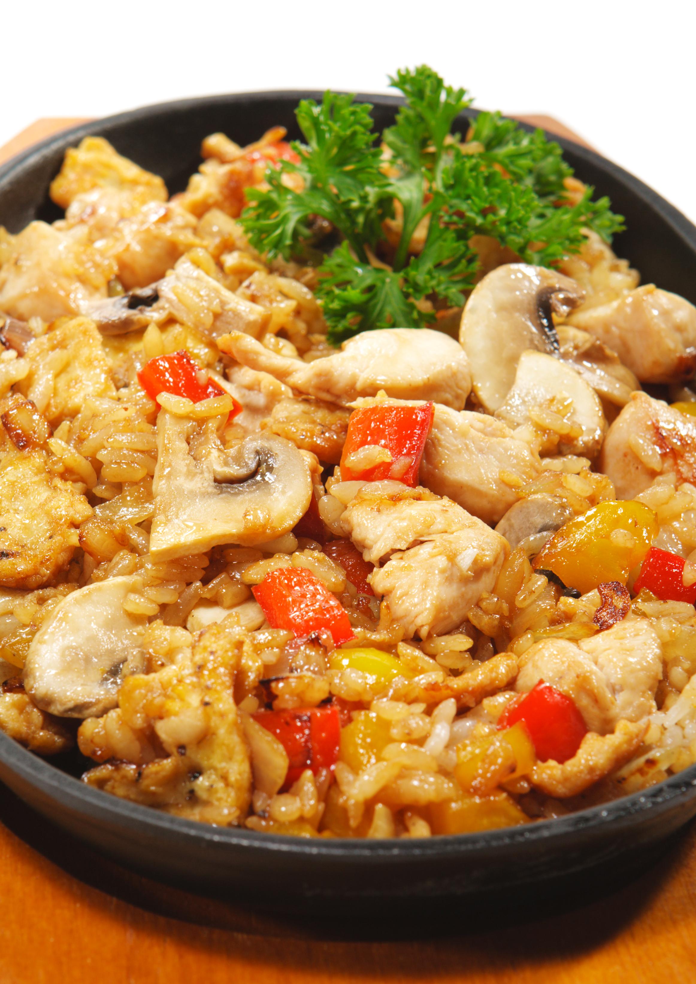 Arroz al horno con pollo y setas