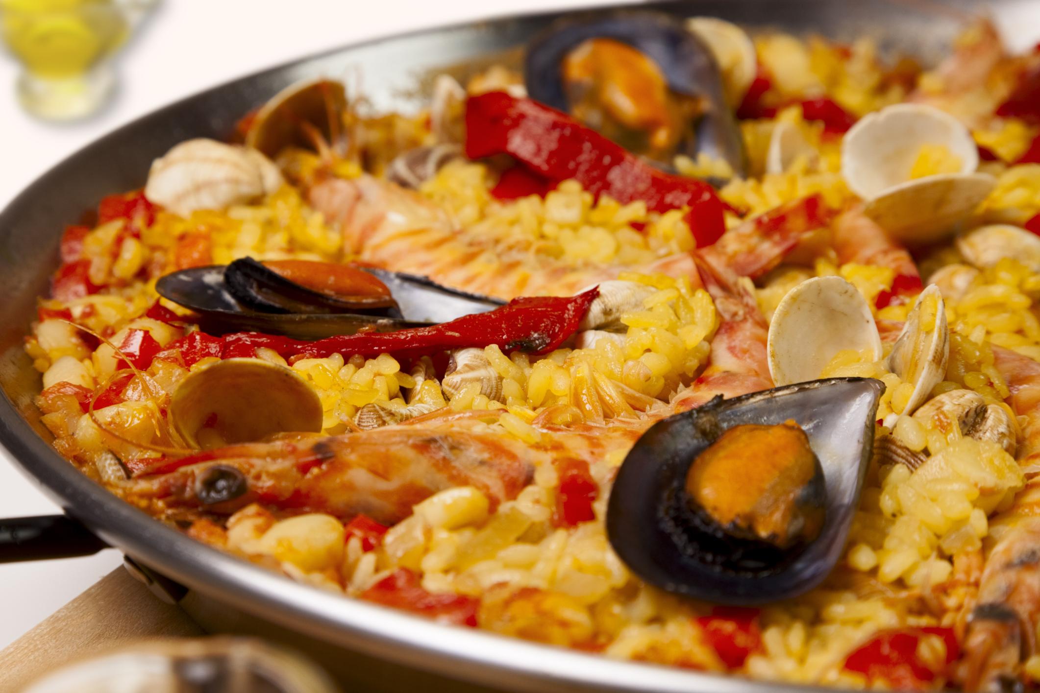 Arroz con marisco y verdura