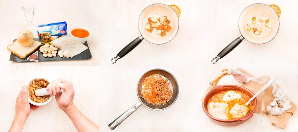 Bacalao en salsa de almendras