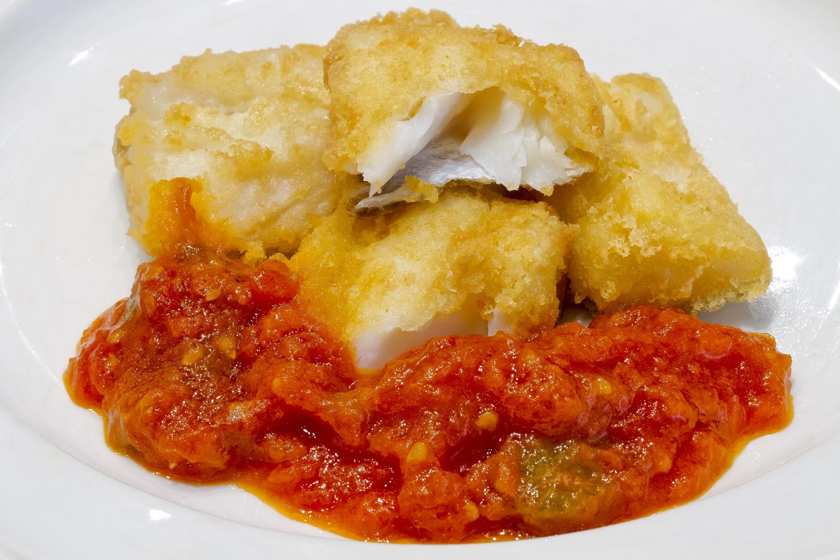 Bacalao con tomate y pimientos -  receta de usuario