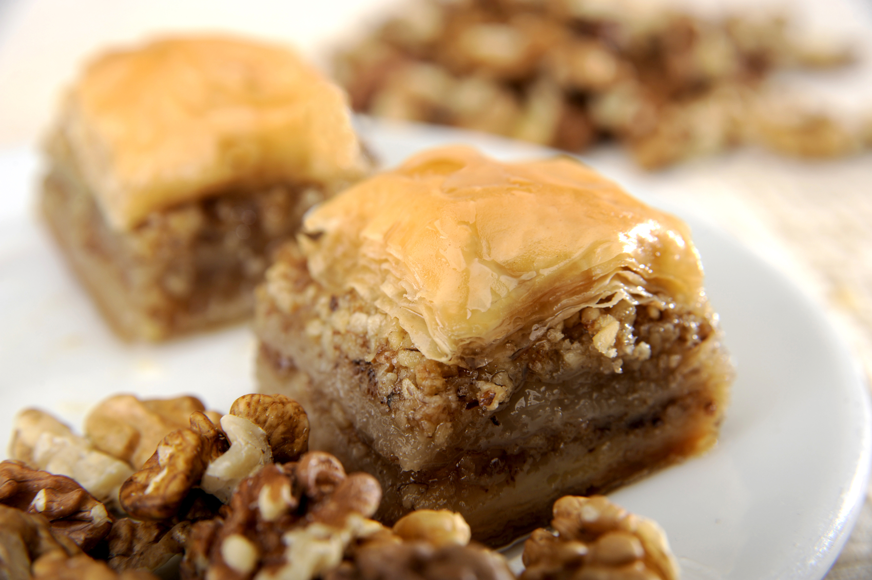 Baklava, pastel turco de nueces