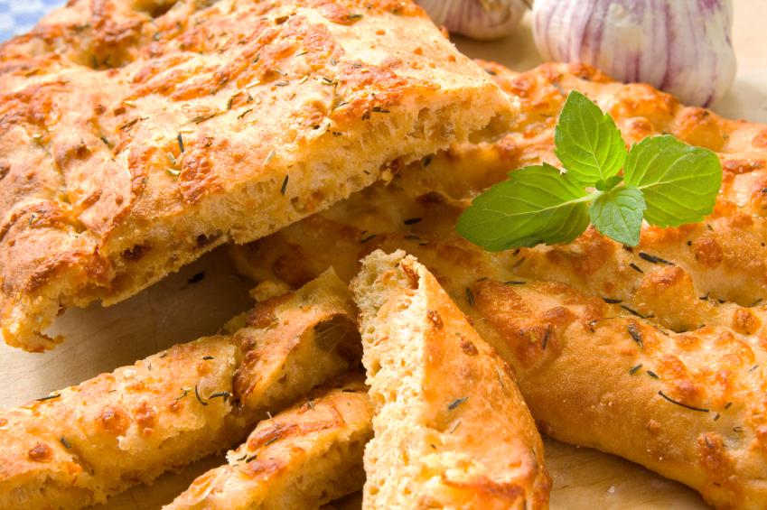 Pan con hierbas provenzales y tomillo