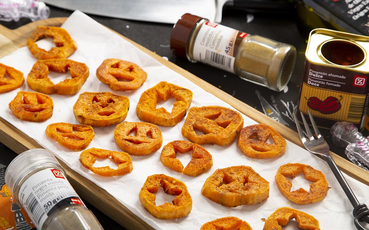 Batatas al horno especiadas de Halloween
